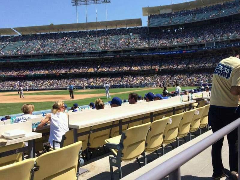 Vista sentada para Dodger Stadium Secção 35FD Fila A Lugar 5