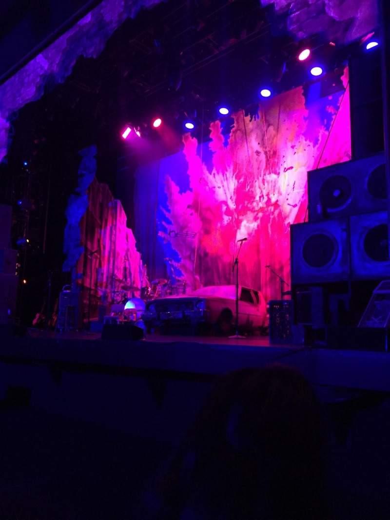 Vista sentada para Hollywood Pantages Theatre Secção Orchestra RC Fila B Lugar 206