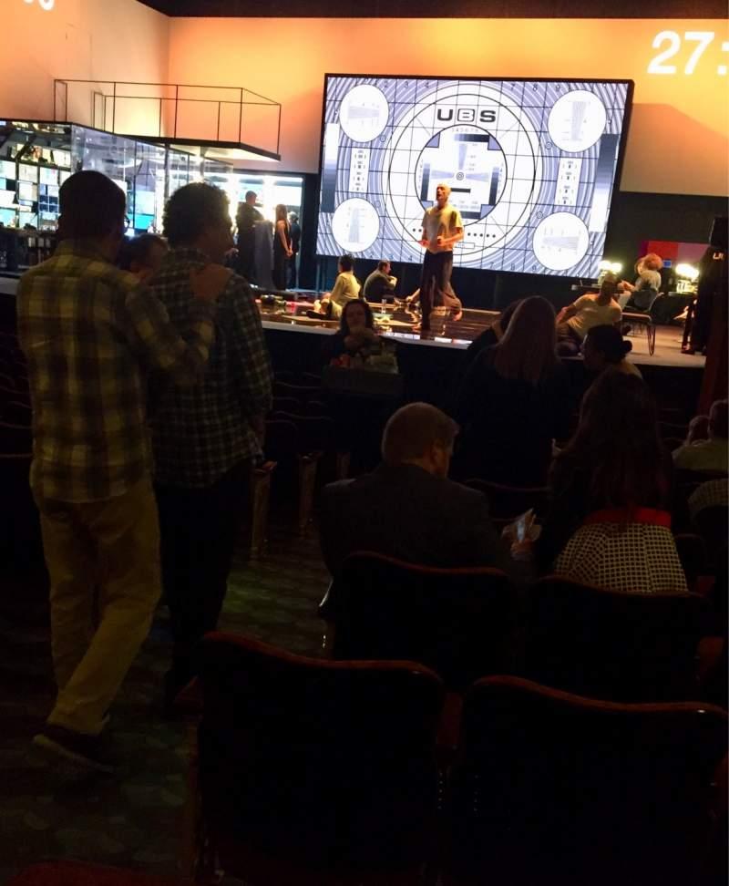 Vista sentada para Belasco Theatre Secção Orchestra R Fila N Lugar 8