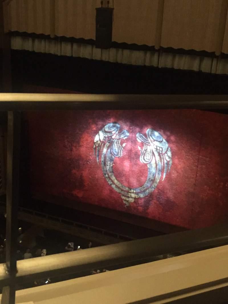 Vista sentada para Reynolds Hall at The Smith Center Secção Balcony Fila A Lugar 242