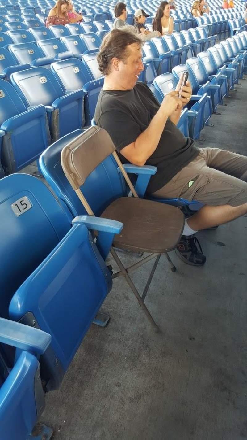 Vista sentada para MidFlorida Credit Union Amphitheatre Secção 13 Fila H Lugar 14