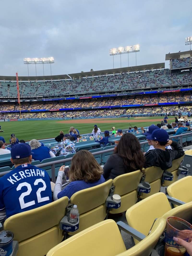 Vista sentada para Dodger Stadium Secção 43FD Fila C Lugar 6