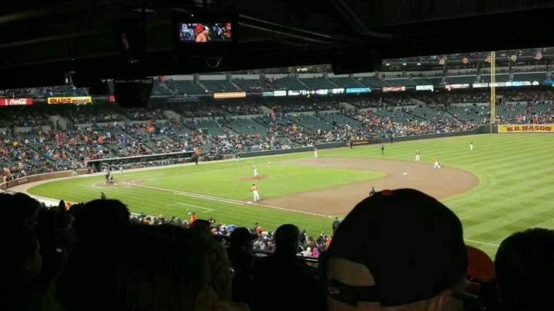 Vista sentada para Oriole Park at Camden Yards Secção 11 Fila 12 Lugar 15