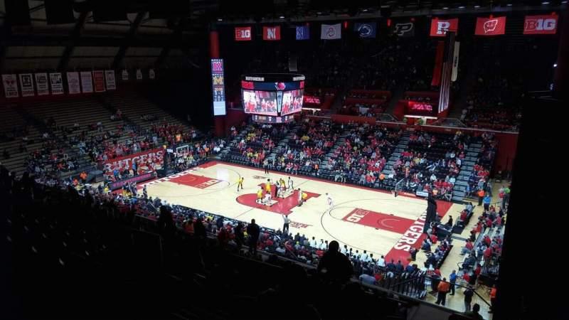 Vista sentada para Rutgers Athletic Center Secção 217 Fila S Lugar 4