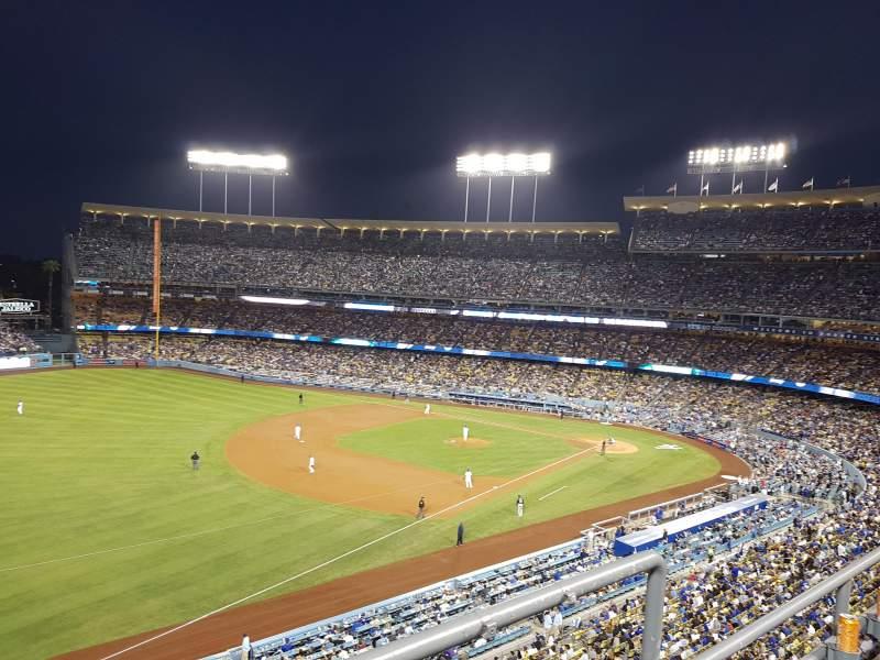 Vista sentada para Dodger Stadium Secção 39RS Fila B Lugar 2