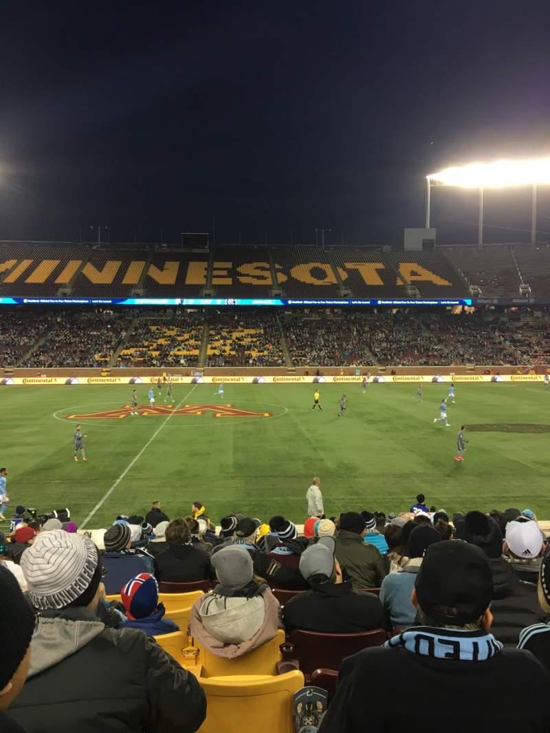Vista sentada para TCF Bank Stadium Secção 140 Fila 15 Lugar 16