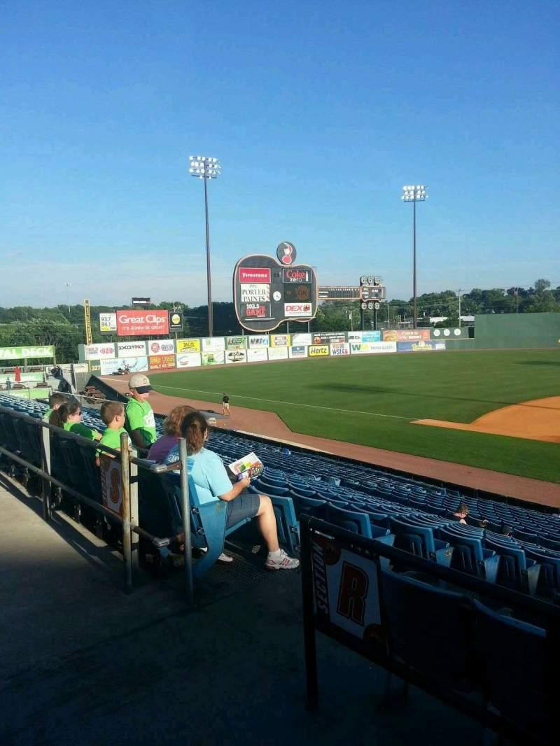 Vista sentada para Herschel Greer Stadium