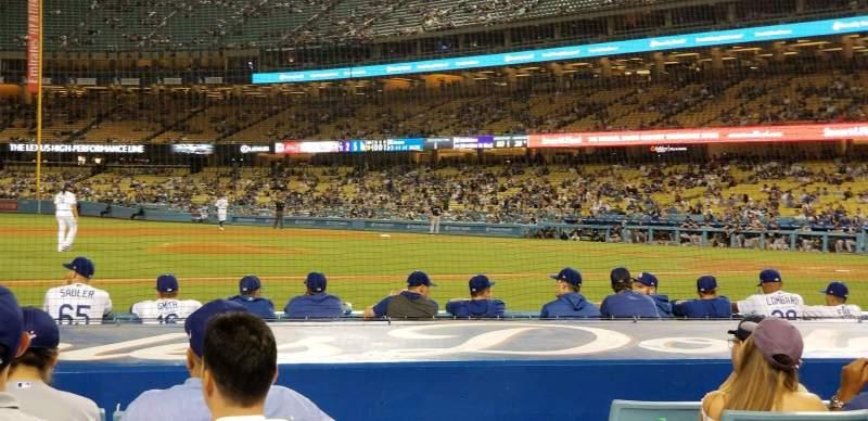 Vista sentada para Dodger Stadium Secção 21FD Fila A Lugar 7