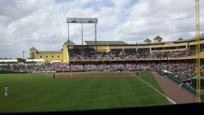 Vista sentada para Champion Stadium Secção lawn