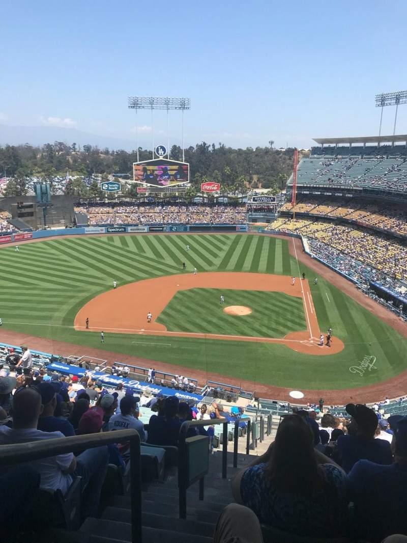 Vista sentada para Dodger Stadium Secção 9RS Fila T Lugar 24