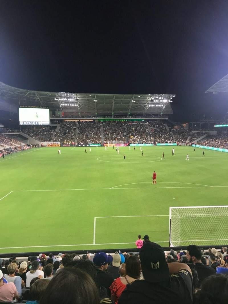 Vista sentada para Banc of California Stadium Secção 123 Fila R Lugar 3