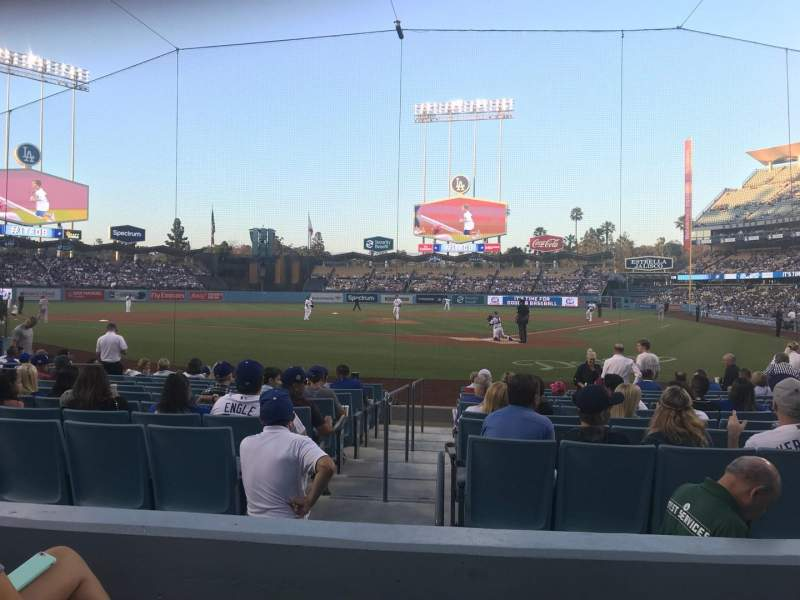 Vista sentada para Dodger Stadium Secção 5FD Fila C Lugar 3