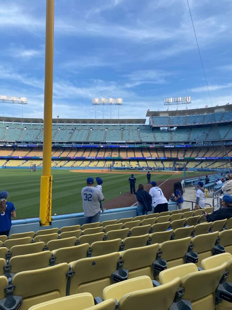 Vista sentada para Dodger Stadium Secção 49FD Fila G Lugar 15