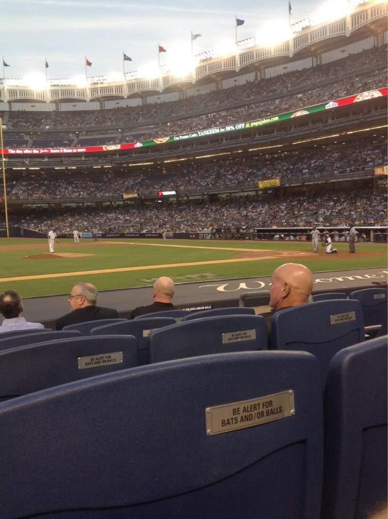 Vista sentada para Yankee Stadium Secção 024B Fila 5 Lugar 3