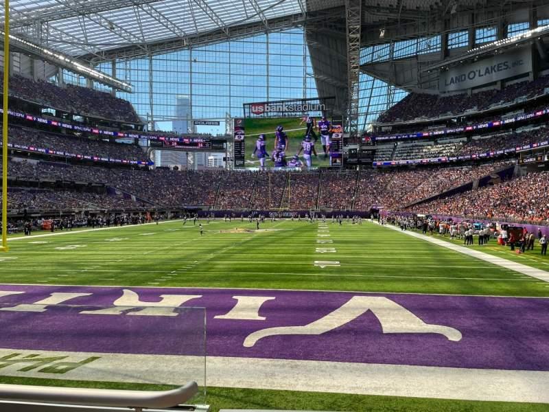 Vista sentada para U.S. Bank Stadium Secção 118 Fila 5 Lugar 20