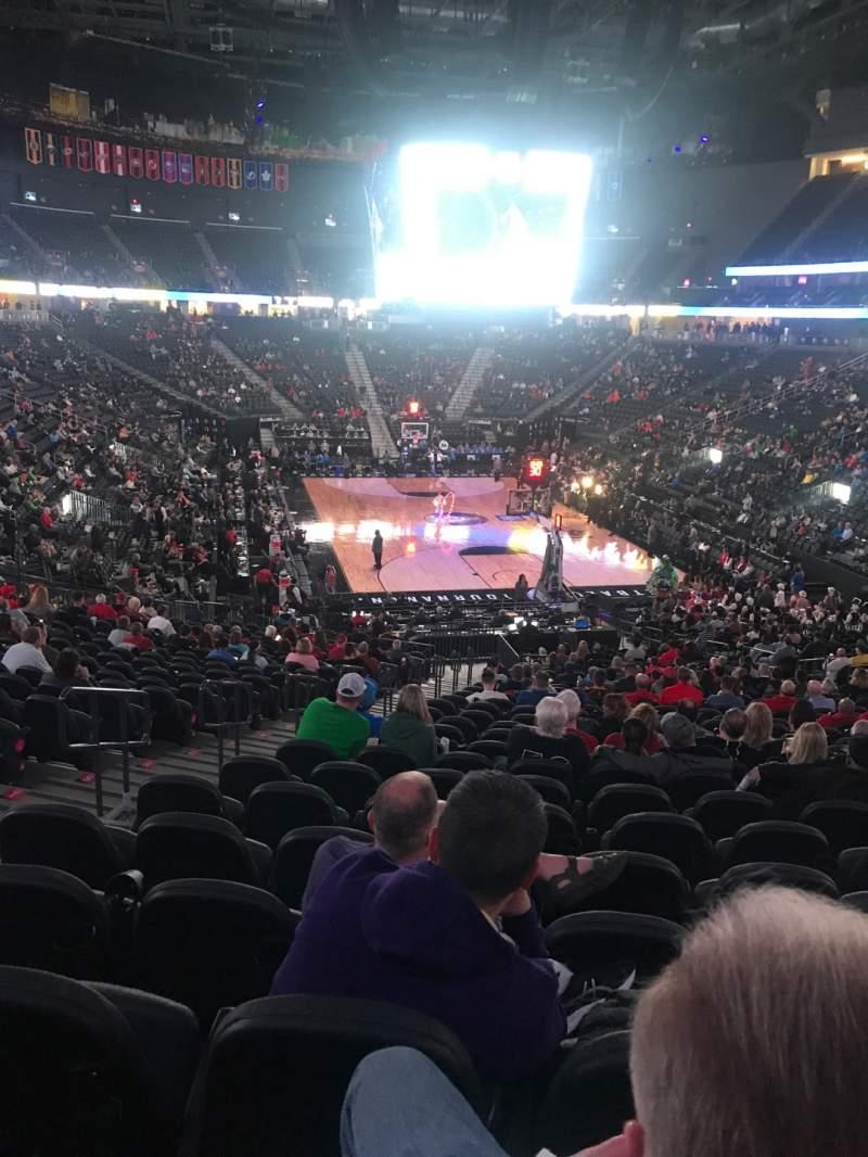 Vista sentada para T-Mobile Arena Secção 10 Fila Z Lugar 5