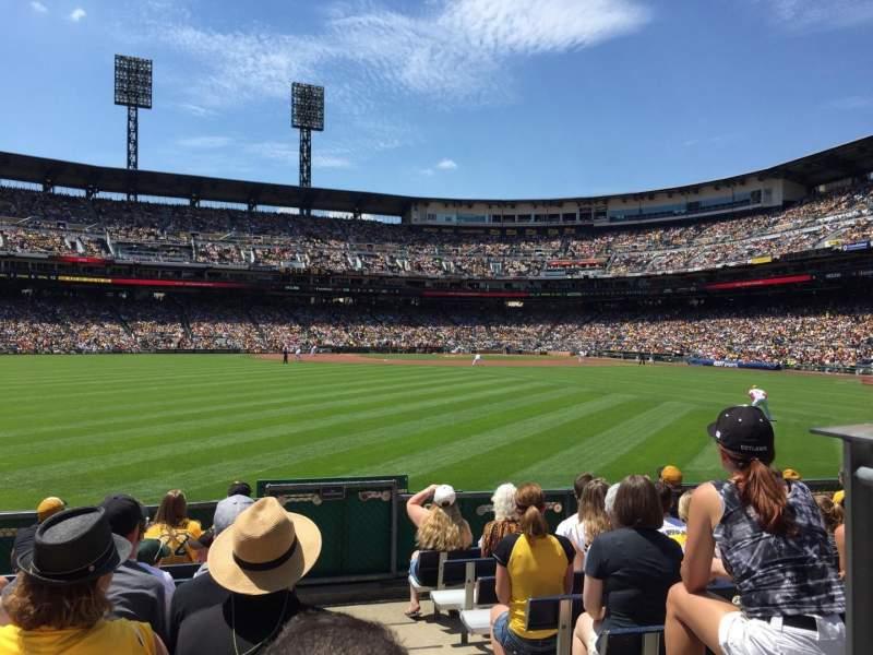 Vista sentada para PNC Park Secção 138 Fila J Lugar 1