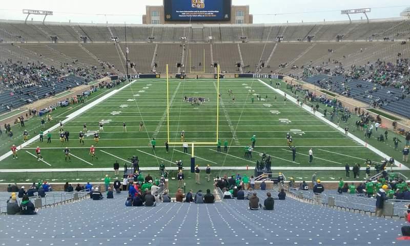 Vista sentada para Notre Dame Stadium Secção 1 Fila 57 Lugar 12