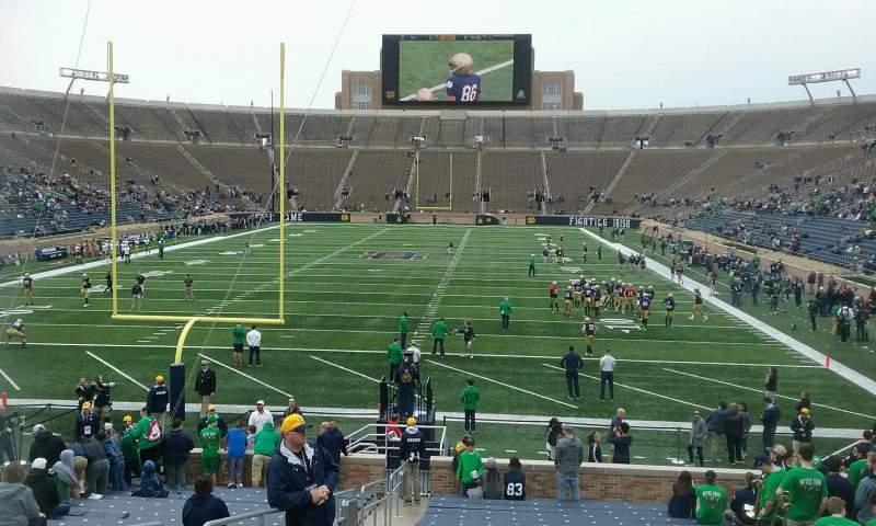 Vista sentada para Notre Dame Stadium Secção 36 Fila 30 Lugar 20