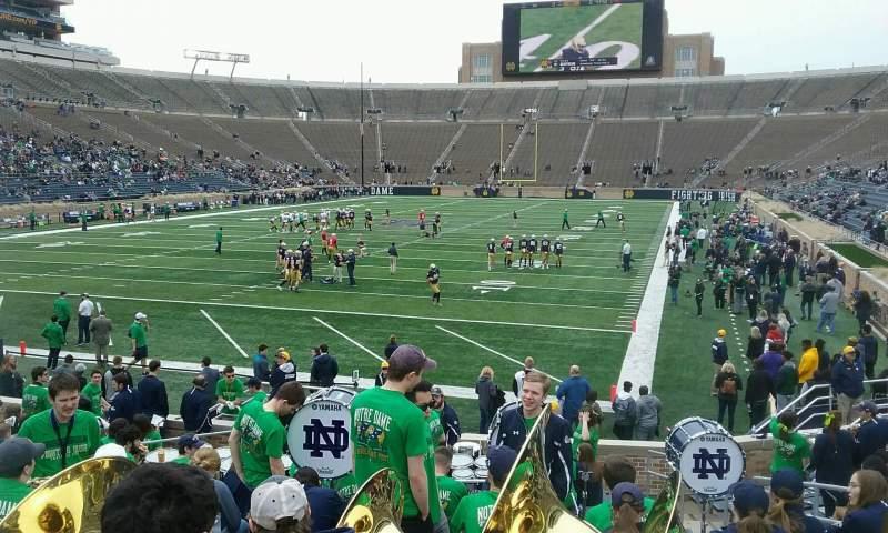Vista sentada para Notre Dame Stadium Secção 35 Fila 23 Lugar 8