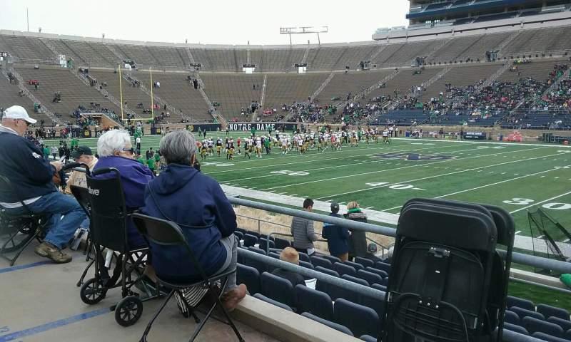 Vista sentada para Notre Dame Stadium Secção 26 Fila ADA Lugar 12