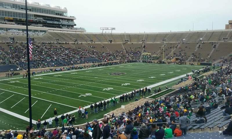 Vista sentada para Notre Dame Stadium Secção 15 Fila 49 Lugar 23