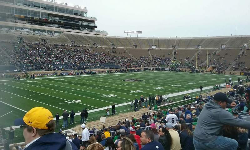 Vista sentada para Notre Dame Stadium Secção 14 Fila 32 Lugar 24