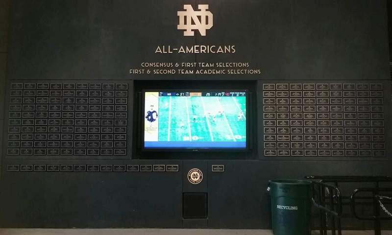 Vista sentada para Notre Dame Stadium