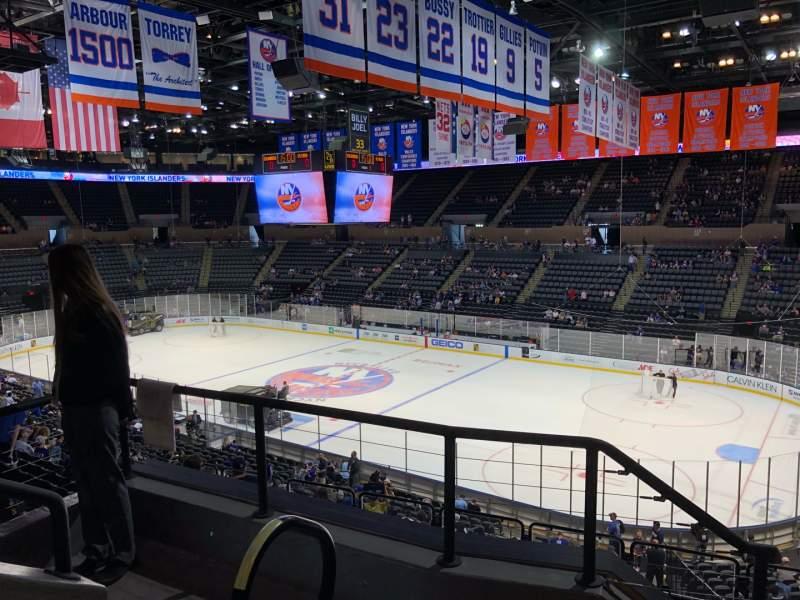 Vista sentada para Nassau Veterans Memorial Coliseum Secção 239 Fila 4 Lugar 11