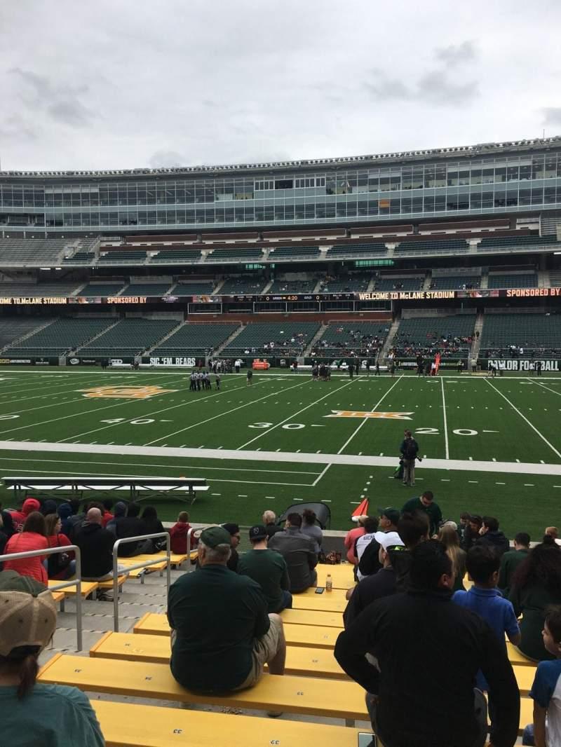 Vista sentada para McLane Stadium Secção 123 Fila 13 Lugar 31