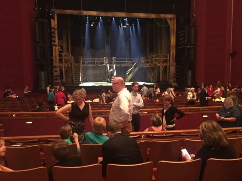 Vista sentada para The Kennedy Center Opera House Secção ORCH-CTR Fila W Lugar 123