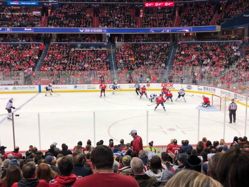 Vista sentada para Capital One Arena Secção 101 Fila Q Lugar 20