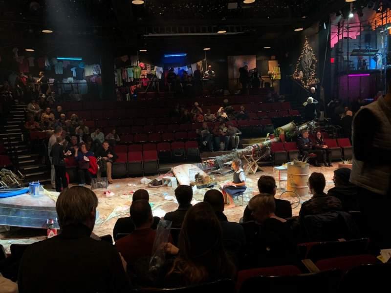 Vista sentada para Circle in the Square Theatre Secção Orchestra 200 (Even) Fila D Lugar 220