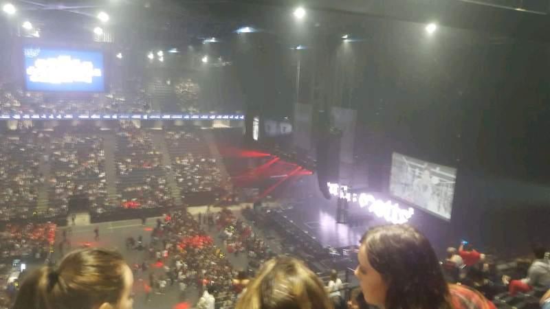 Vista sentada para AccorHotels Arena Secção balcon f Fila 92