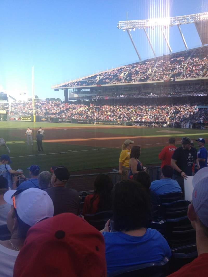 Vista sentada para Kauffman Stadium Secção 115 Fila H Lugar 5