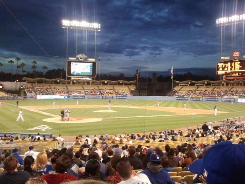 Vista sentada para Dodger Stadium Secção 6FD Fila R Lugar 3