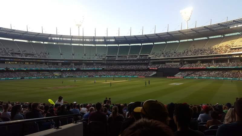 Vista sentada para Melbourne Cricket Ground Secção 13 Fila U Lugar GA