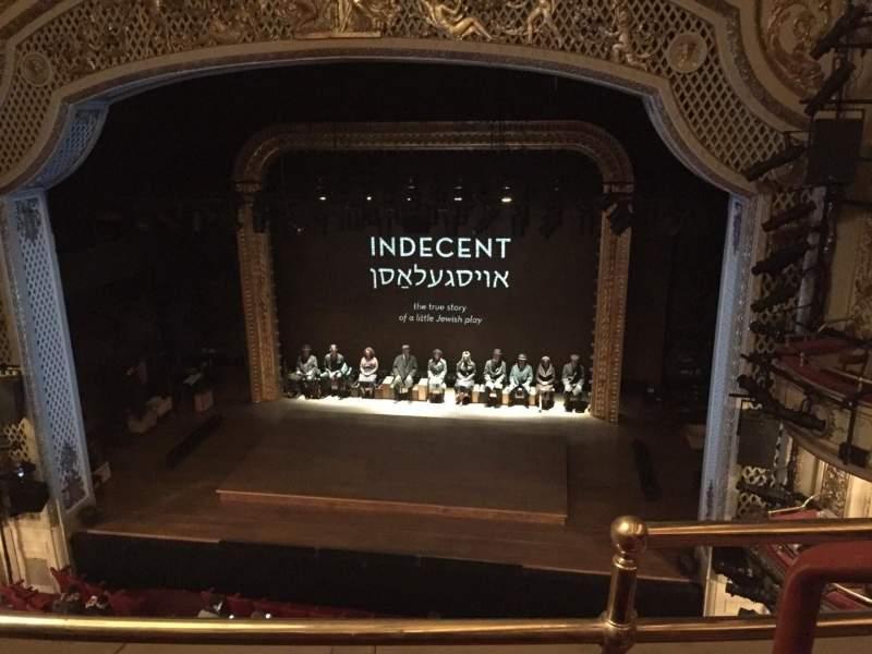 Vista sentada para Cort Theatre Secção Balcony C Fila B Lugar 114