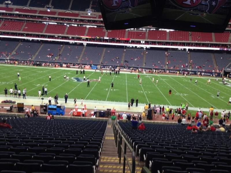 Vista sentada para NRG Stadium Secção 109 Fila JJ Lugar 23