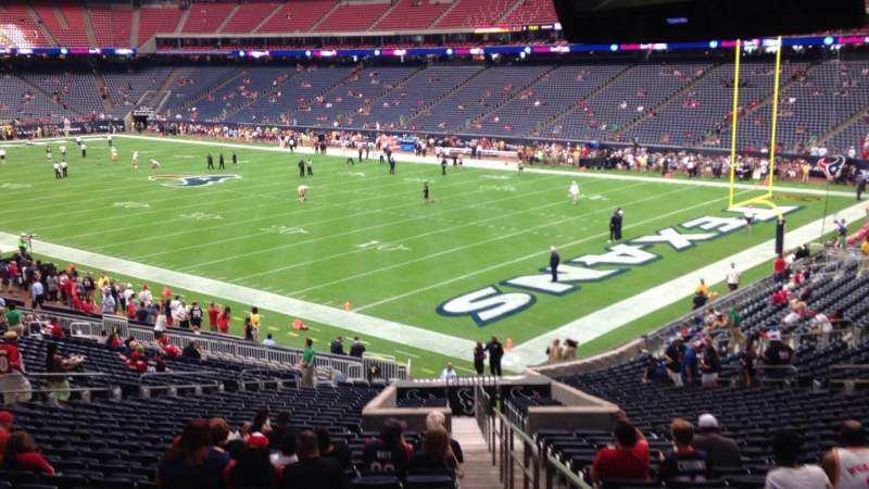 Vista sentada para NRG Stadium Secção 121 Fila JJ Lugar 1