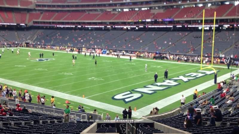 Vista sentada para NRG Stadium Secção 121 Fila CC Lugar 1