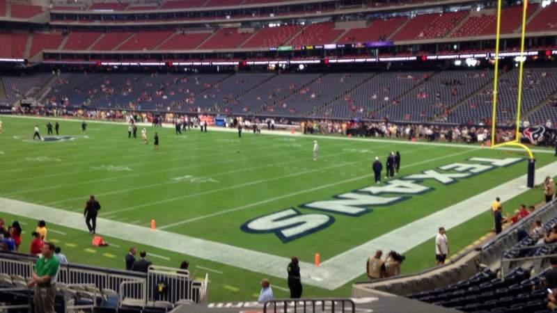 Vista sentada para NRG Stadium Secção 121 Fila S Lugar 1