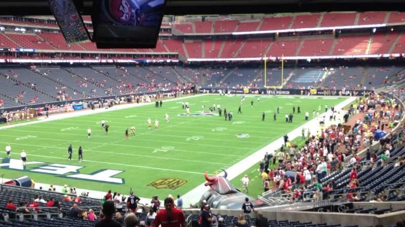 Vista sentada para NRG Stadium Secção 113 Fila JJ Lugar 27