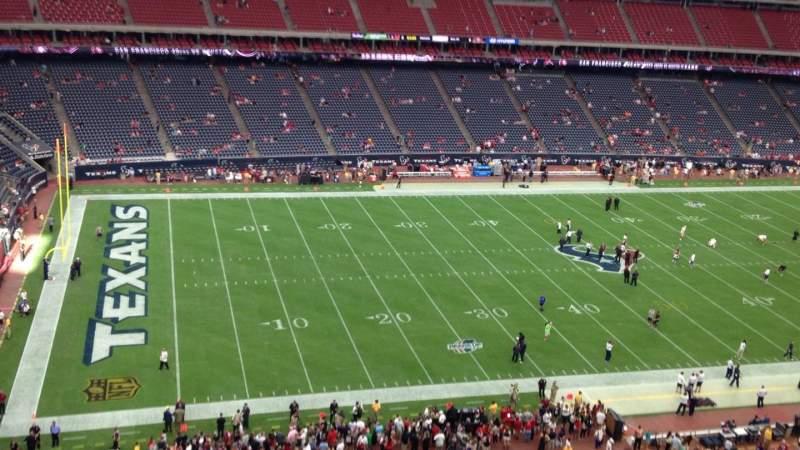 Vista sentada para NRG Stadium Secção 512 Fila M Lugar 1