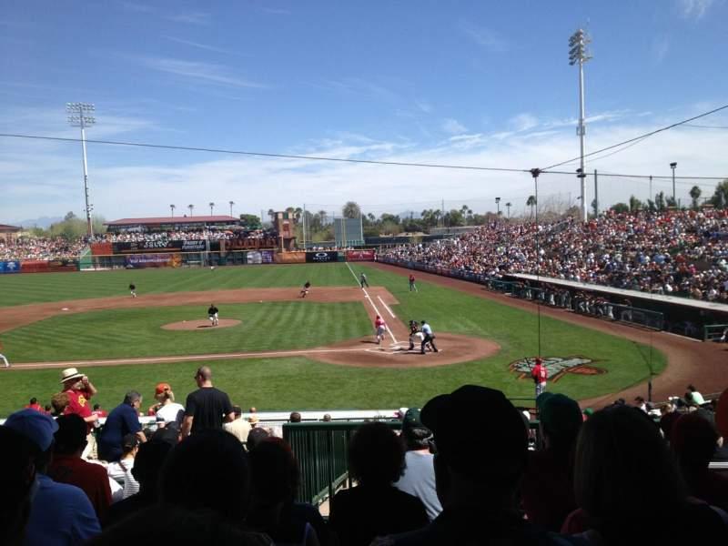 Vista sentada para Scottsdale Stadium Secção 305 Fila 6 Lugar 14