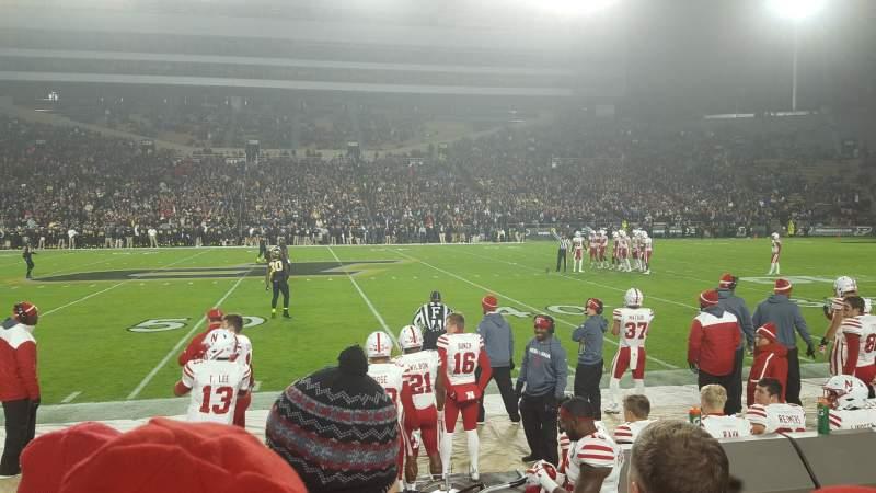 Vista sentada para Ross-Ade Stadium Secção 105 Fila 3 Lugar 115