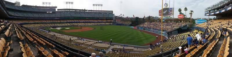 Vista sentada para Dodger Stadium Secção 158LG Fila E Lugar 9