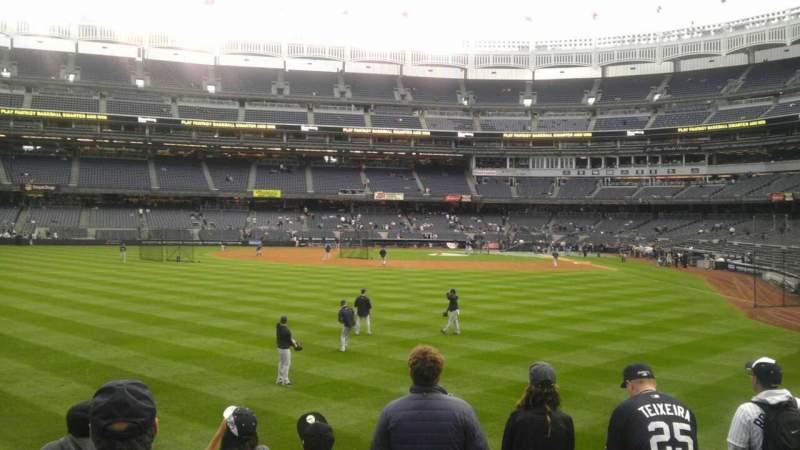 Vista sentada para Yankee Stadium Secção 136 Fila 12 Lugar 19