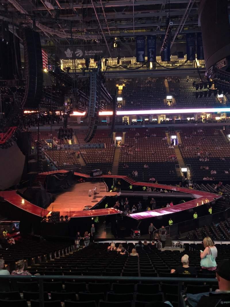 Vista sentada para Scotiabank Arena Secção 109 Fila 27 Lugar 14