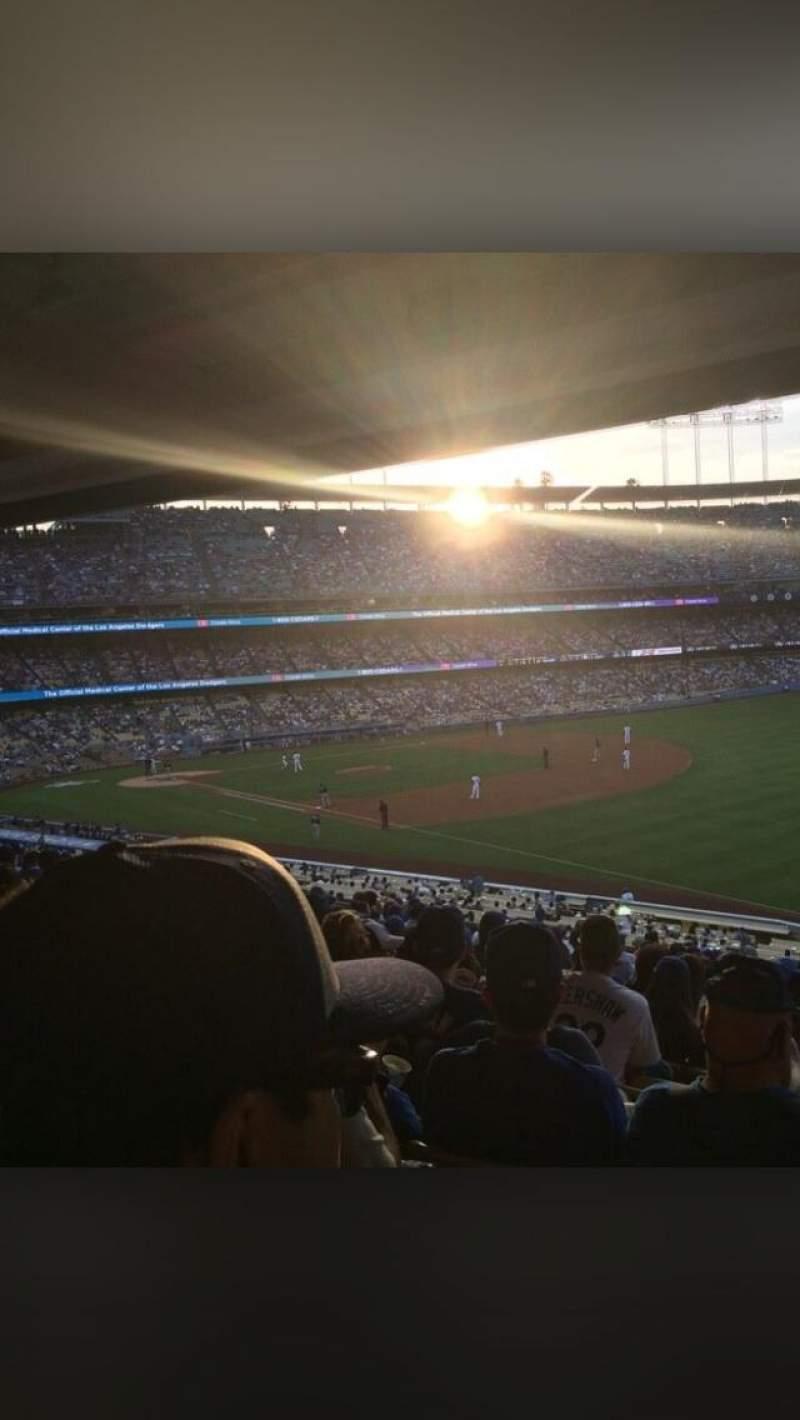 Vista sentada para Dodger Stadium Secção 158LG Fila T Lugar 9